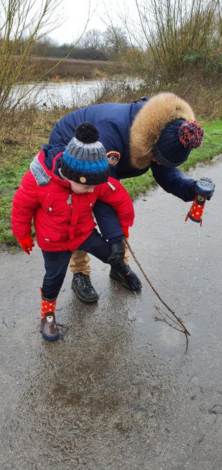 Ethan And I Wellies Watermead Country Park Walk Dec 2020