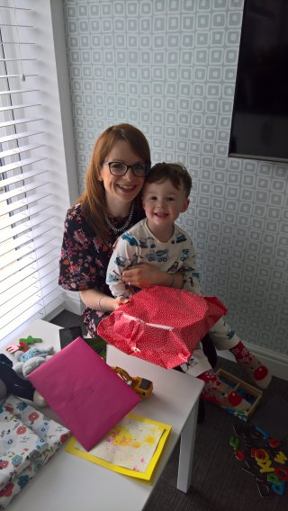 Ethan And Rachel Opening Presents Mothers Day May 2019