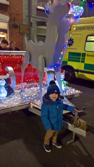 Ethan And Sleigh Broughton Astley Lights Switch On Dec 2018