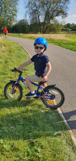 Ethan Bike Everards Meadows Walk Sept 2020