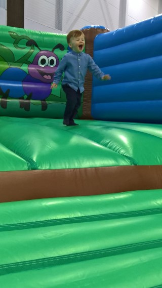 Ethan Bouncing Sports Relief 2018 Hinkley Leisure Centre March 2018