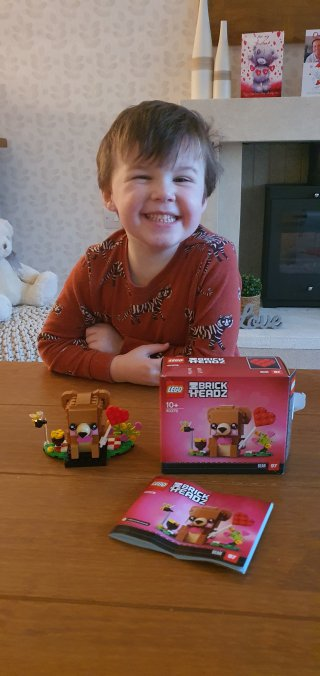 Ethan Complete Lego Valentines Day Feb 2021