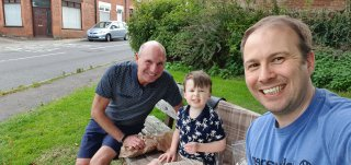 Ethan Dad And I Bench Chip Shop Bike Ride July 2020