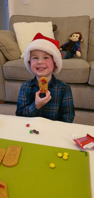 Ethan Gingerbread Elf Decorating Dec 2020
