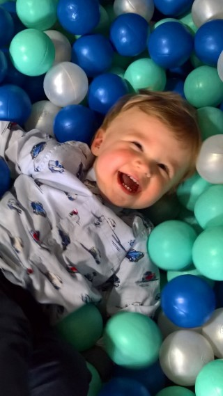 Ethan In The Ball Pit Woodlands Garden Centre September 2017