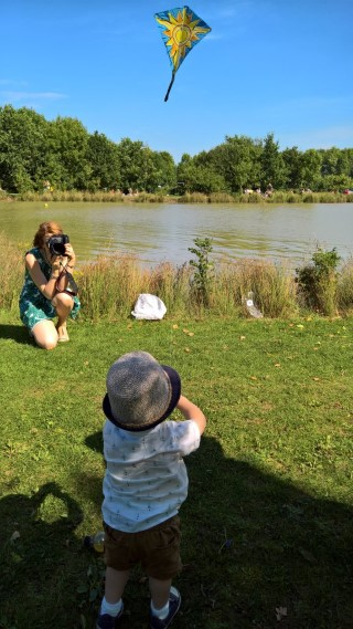 Ethan Kite Flying Bosworth Water Trust August 2017