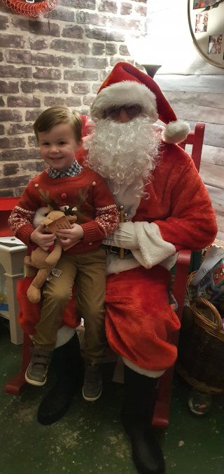 Ethan Meeting Santa Palmers Garden Centre Christmas Eve Dec 2019