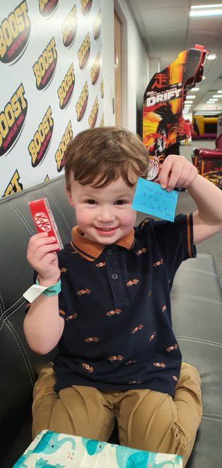 Ethan Message From Meemee Boost Trampoline Park Daddy Day Dec 2019