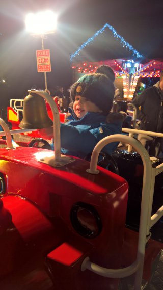 Ethan Mini Train Broughton Astley Lights Switch On Dec 2018
