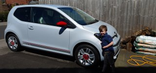 Ethan Outside Vw Up Car Wash May 2020
