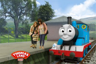 Ethan Rachel Joy Train Thomas Land July 2019