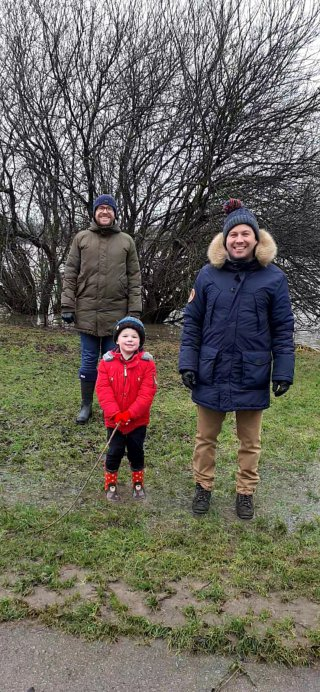 Ethan Sam And I Watermead Country Park Walk Dec 2020