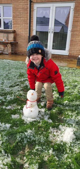 Ethan Snowman Mini Show Day Jan 2021