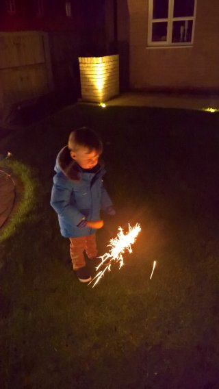 Ethan Sparkler Bonfire Night Nov 2018