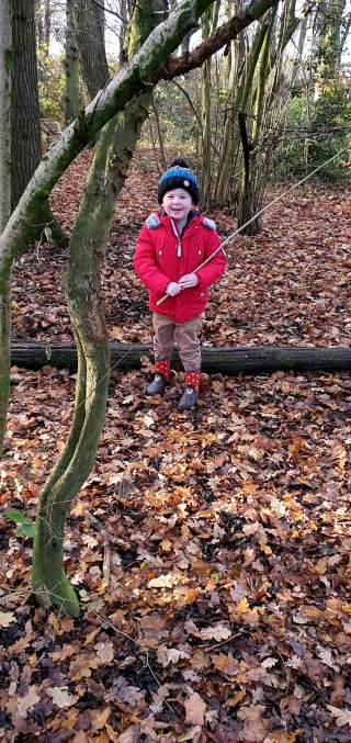 Ethan Stick Burbage Common Warner Family Walk Nov 2020