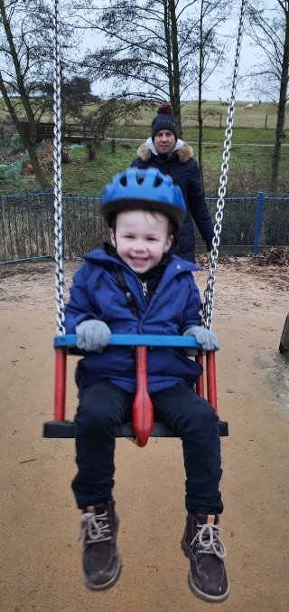 Ethan Swing Ryton Pools Country Park Jan 2020