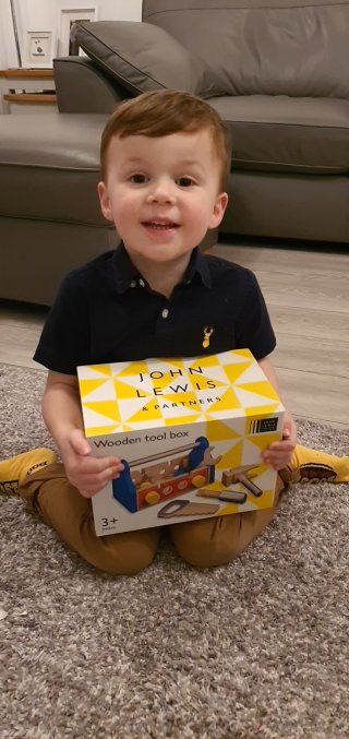 Ethan Toolbox Present Ethans Boost Birthday Party Nov 2019