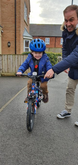 Ethans 1st Pedal Bike Ride Winter Day Out Dec 2019