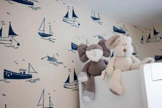 Ethans Decorated Room Harlequin Sail Away Wardrobe June 2016