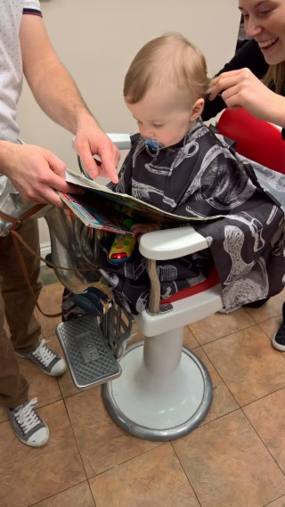 Ethans First Hair Cut January 2017 In Progress