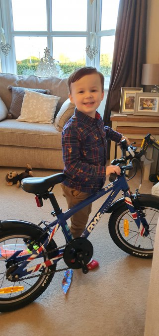 Ethans New Bike Christmas Day Dec 2019