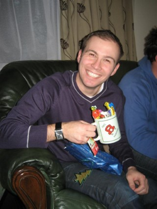 Fake Christmas 2010 Me With Present