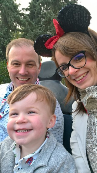 Family Driving Autopia Wednesday Disneyland Paris Oct 2018