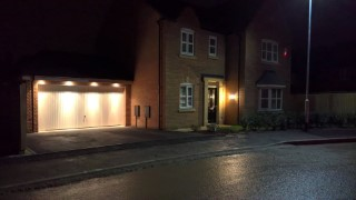 Garage Lighting And Security House At Night Jan 2016