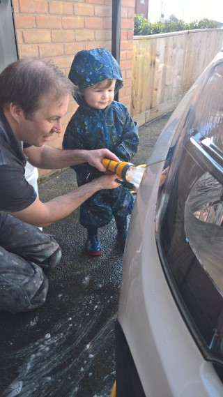 Hose Washing The Car With Ethan April 2018