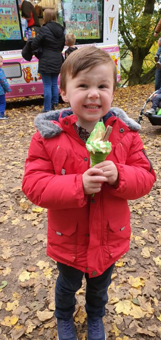 Hulk Ice Cream Ethan Ryton Pools Country Park Oct 2020