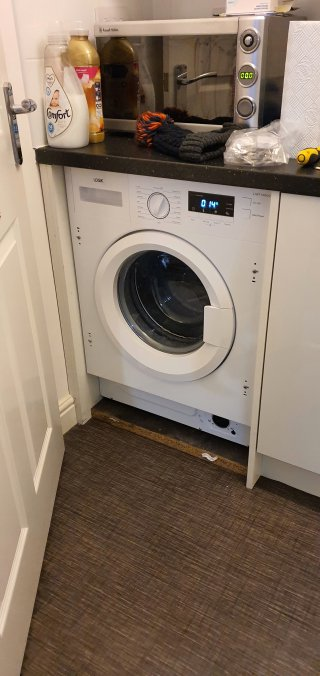 In Place New Washing Machine Dec 2020