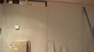 Insulating And Plasterboarding The Garage House Wall