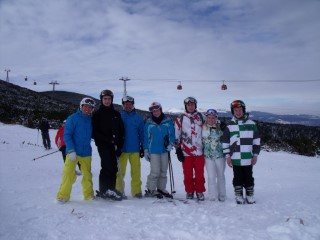 Last Day Group Skiing Borovets 2014