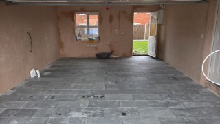 Lay Natural Grey Slate Floor Garage Feb 2016 All Laid