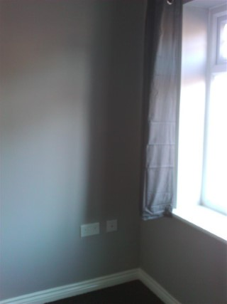 Master Bedroom Grey Paint And Curtains
