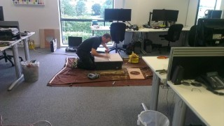 Me Cutting Tiles MMT Speakers July 2012