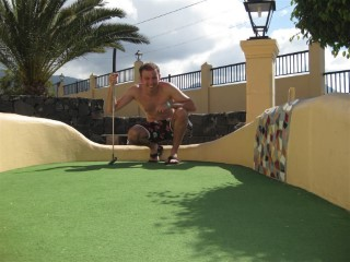 Me Playing Mini Golf Tenerife 2010