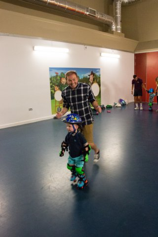 Me Running Ethan Roller Skating Centre Parcs August 2018