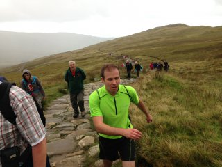 Me Running Racing The Train Snowdon Sept 2013
