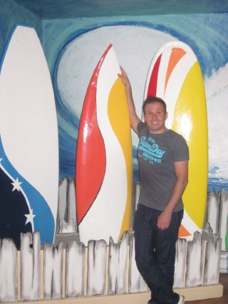 Me With Surfboards Alton Towers Waterpark July 2013