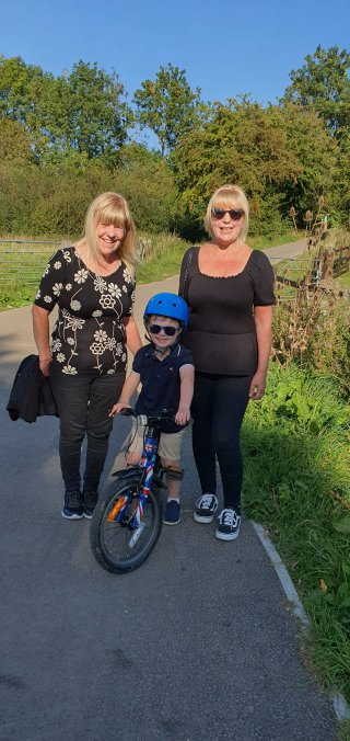 Mum Grandma And Ethan Everards Meadows Walk Sept 2020