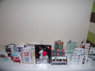 My 30th Birthday Cards Oct 2013