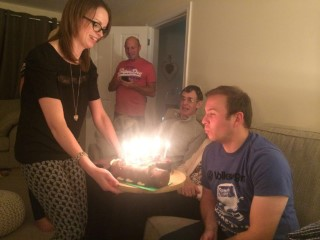 My 33rd Birthday Oct 2016 Me Blowing Out The Candles