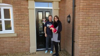 New House Littlethorpe December 2015 Rachel, Ethan And I