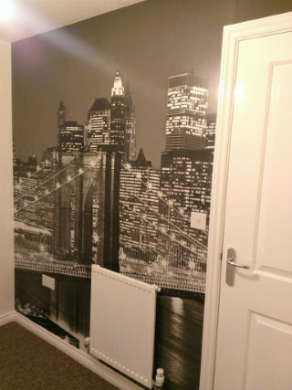 New York Wallpaper Home Office