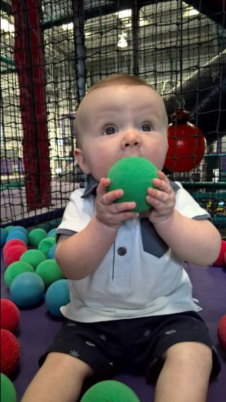 Nottingham Day July 2016 Ethan Soft Play Ball