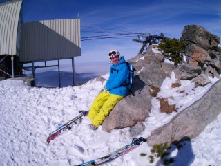 On A Rock Me Skiing Borovets 2014