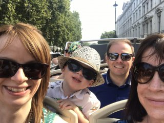 Open Top Bus London Sunday August 2019