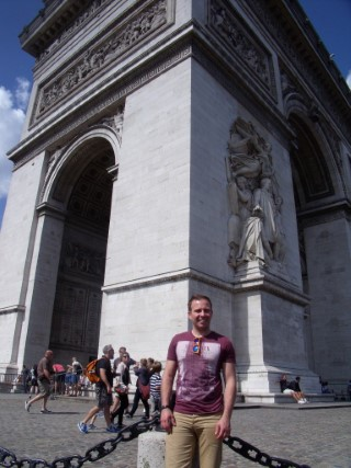 Paris Aug 2014 Me Arc De Triomphe