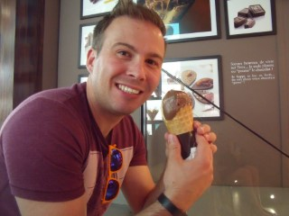 Paris Aug 2014 Me Jeff De Bruges Ice Cream